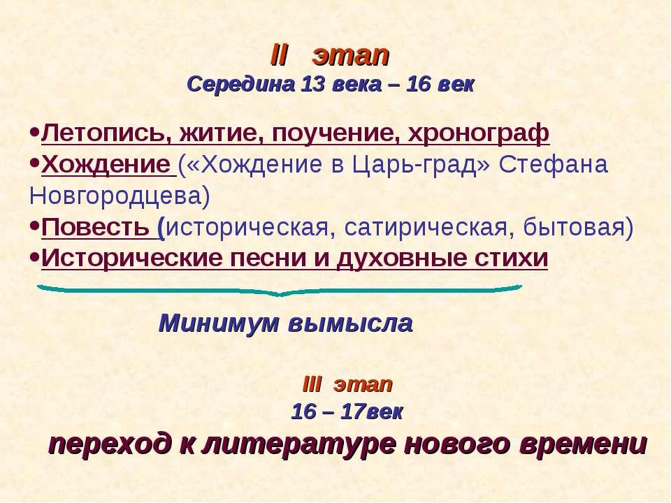 Летопись, житие, поучение, хронограф Хождение («Хождение в Царь-град» Стефана...