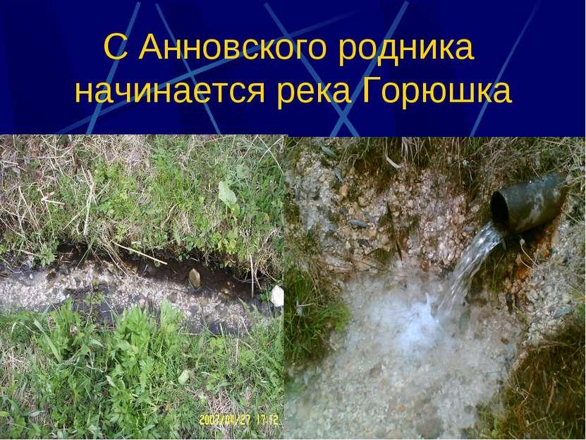 С Анновского родника начинается река Горюшка