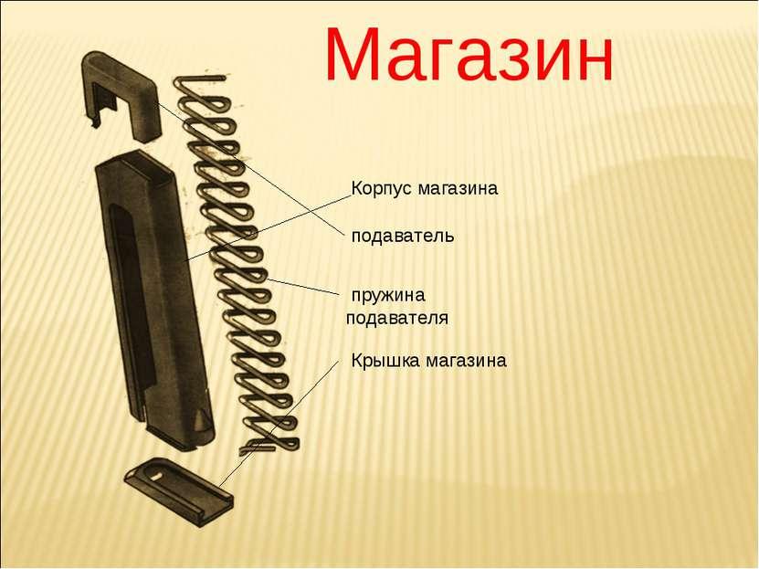 Магазин Корпус магазина подаватель пружина подавателя Крышка магазина
