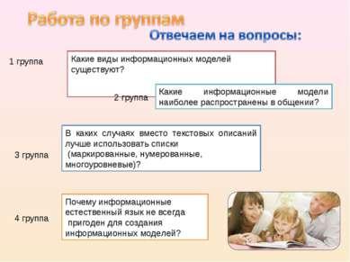 Какие виды информационных моделей существуют? В каких случаях вместо текстовы...