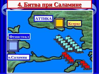 4. Битва при Саламине АТТИКА Ксеркс о.Саламин Фемистокл