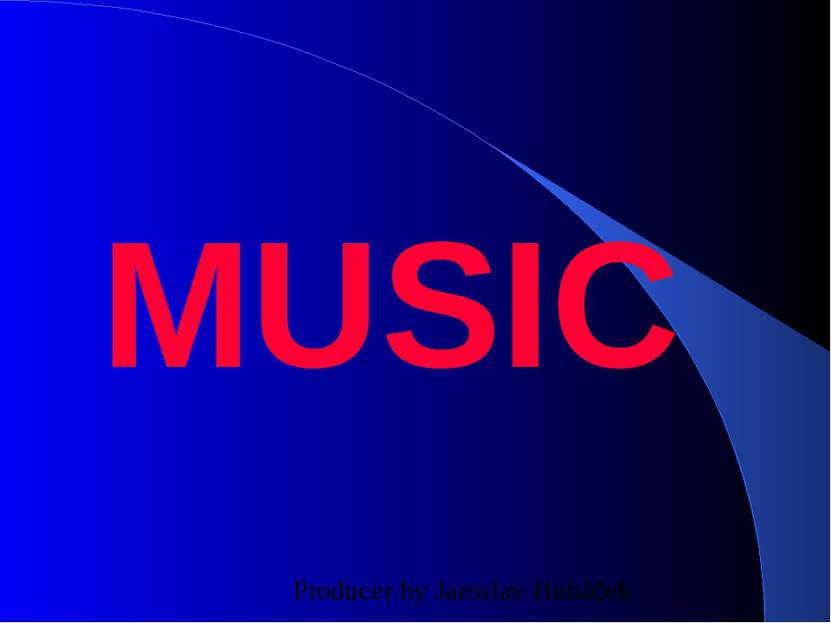 MUSIC Producer by Jaroslav Hubáček