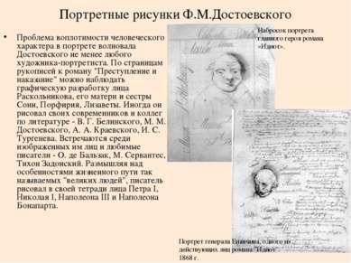 Портретные рисунки Ф.М.Достоевского Проблема воплотимости человеческого харак...
