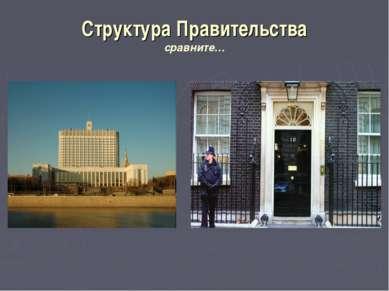 Структура Правительства сравните…