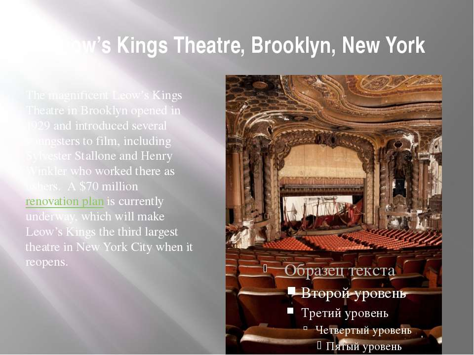Leow's Kings Theatre, Brooklyn, New York The magnificent Leow's Kings Theatre...