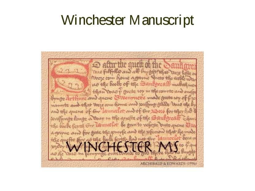 Winchester Manuscript