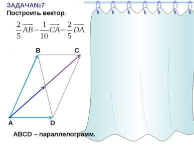 ЗАДАЧА№7 Построить вектор. С А В D АВСD – параллелограмм.
