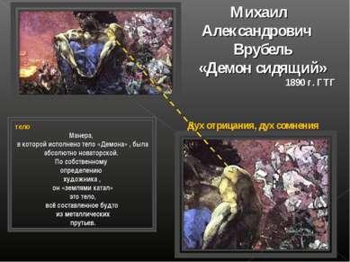 Михаил Александрович Врубель «Демон сидящий» 1890 г. ГТГ тело Манера, в котор...