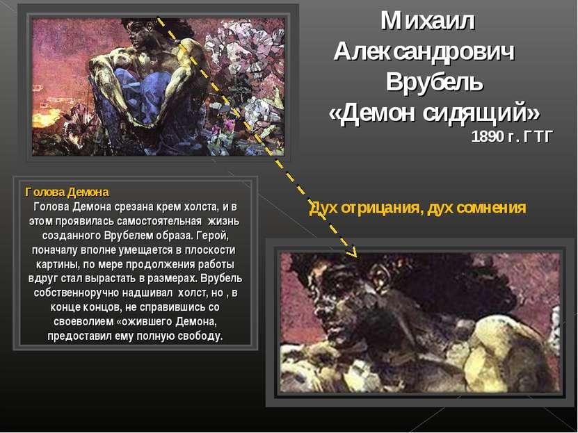 Михаил Александрович Врубель «Демон сидящий» 1890 г. ГТГ Голова Демона Голова...
