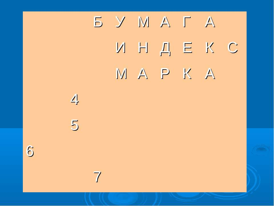 Б У М А Г А И Н Д Е К С М А Р К А 4 5 6 7