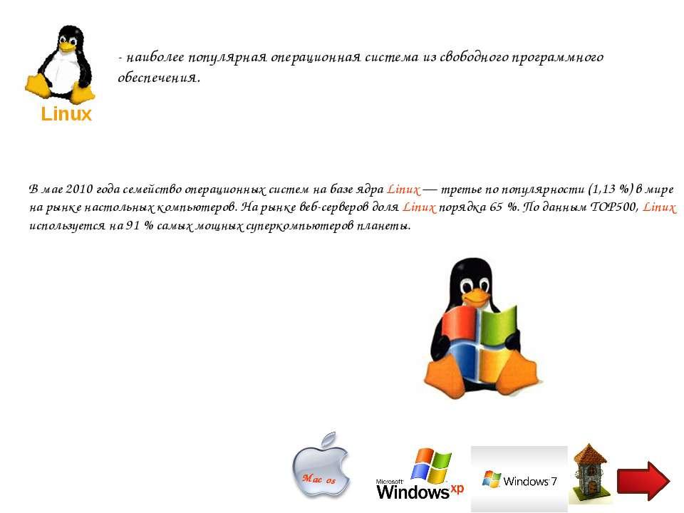 - наиболее популярная операционная система из свободного программного обеспеч...