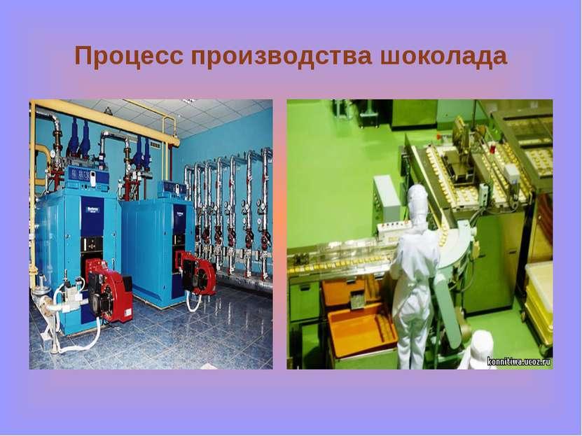 Процесс производства шоколада