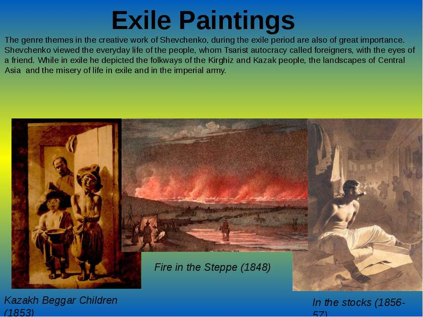Exile Paintings The genre themes in the creative work of Shevchenko, during t...