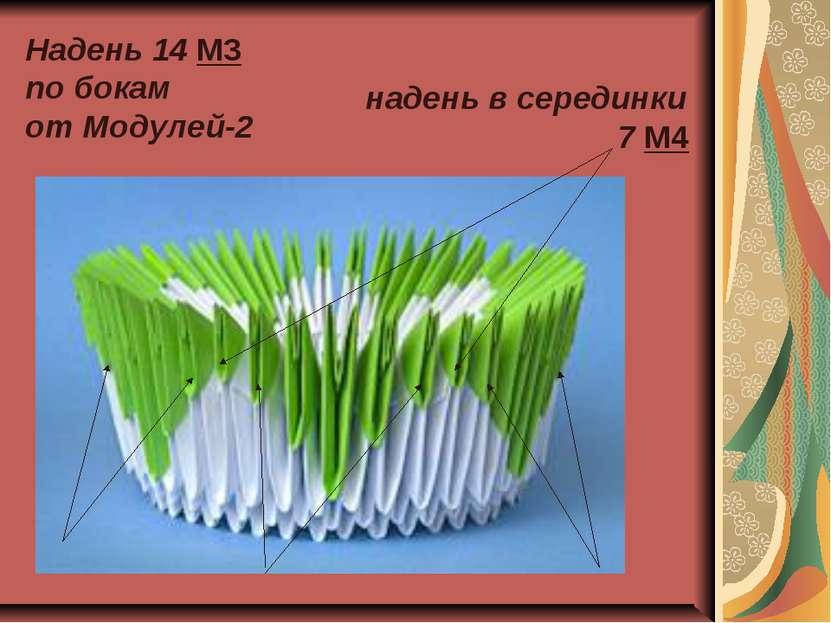 Надень 14 М3 по бокам от Модулей-2 надень в серединки 7 М4
