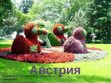 Австрия Боронина И. 11 класс ГБОУ школа №104 Санкт-Петербурга Учитель Шиженск...