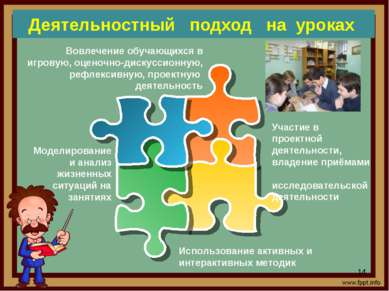 Деятельностный подход на уроках Участие в проектной деятельности, владение пр...