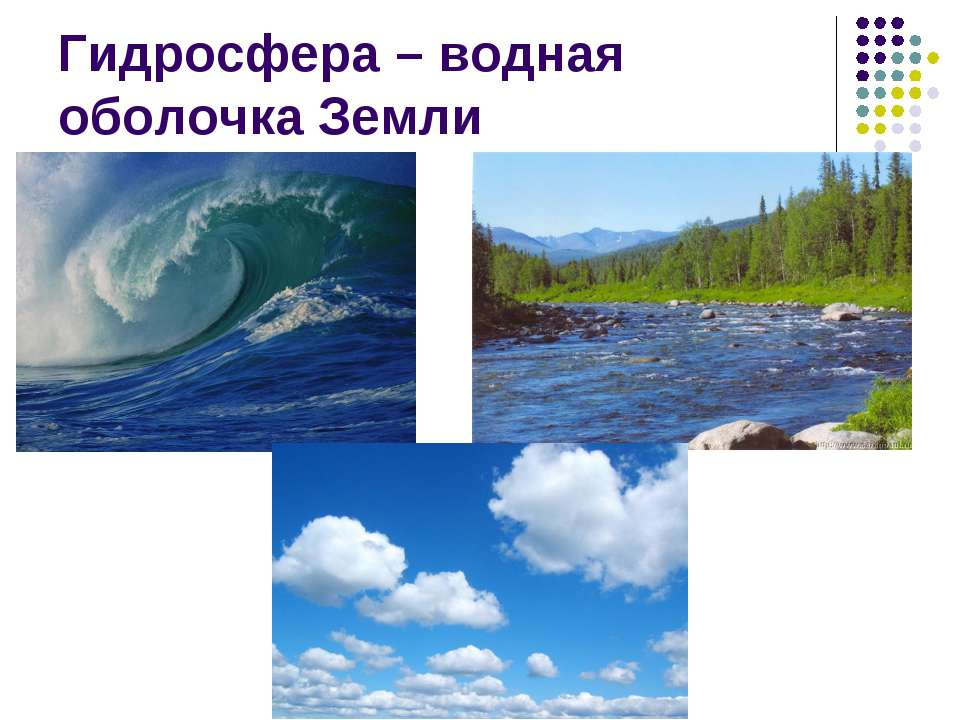 Гидросфера – водная оболочка Земли