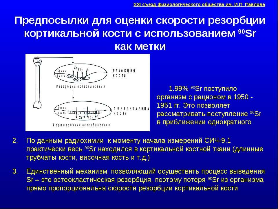 Предпосылки для оценки скорости резорбции кортикальной кости с использованием...