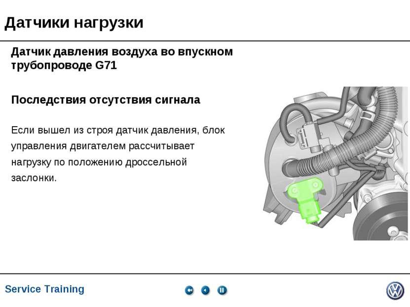 Service Training, VK-21, 05.2005 Последствия отсутствия сигнала Если вышел из...