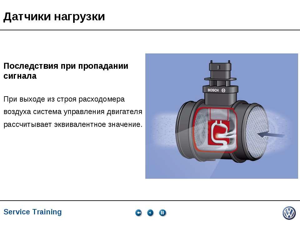 Service Training, VK-21, 05.2005 Датчики нагрузки Последствия при пропадании ...