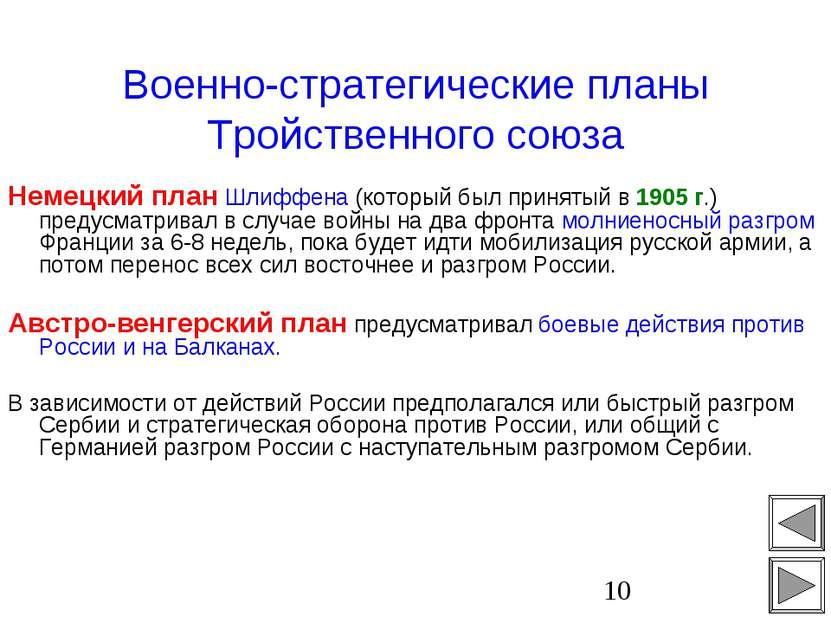 Военно-стратегические планы Тройственного союза Немецкий план Шлиффена (котор...