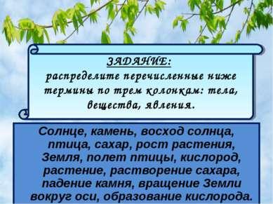 Солнце, камень, восход солнца, птица, сахар, рост растения, Земля, полет птиц...