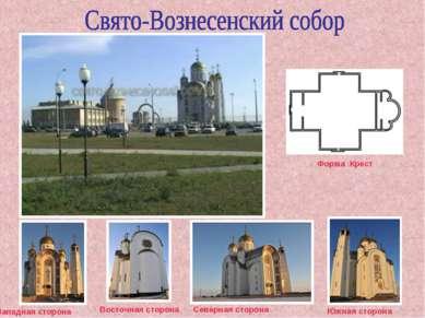 Форма Крест Восточная сторона Северная сторона Южная сторона Западная сторона