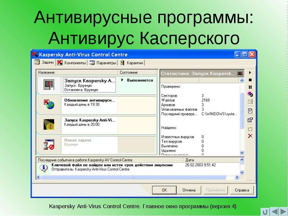 Антивирусные программы: Антивирус Касперского