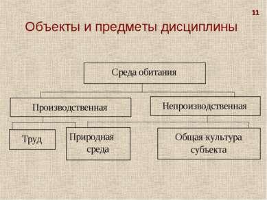 Объекты и предметы дисциплины 11