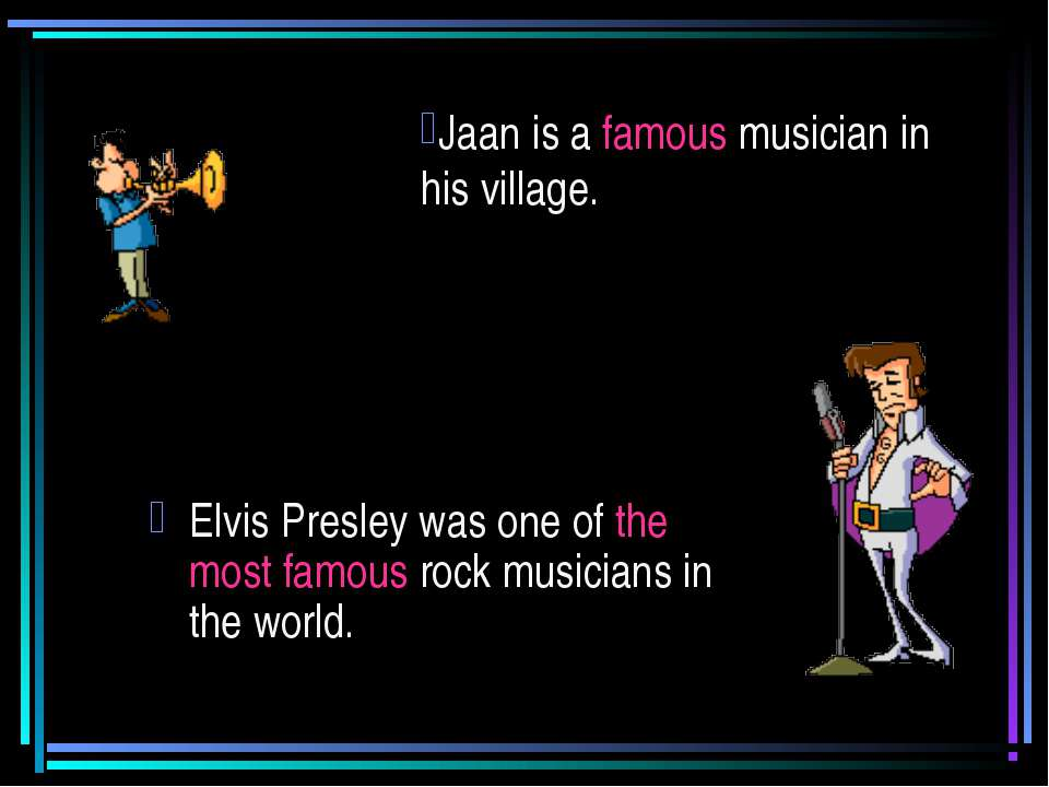 Elvis Presley was one of the most famous rock musicians in the world. Jaan is...