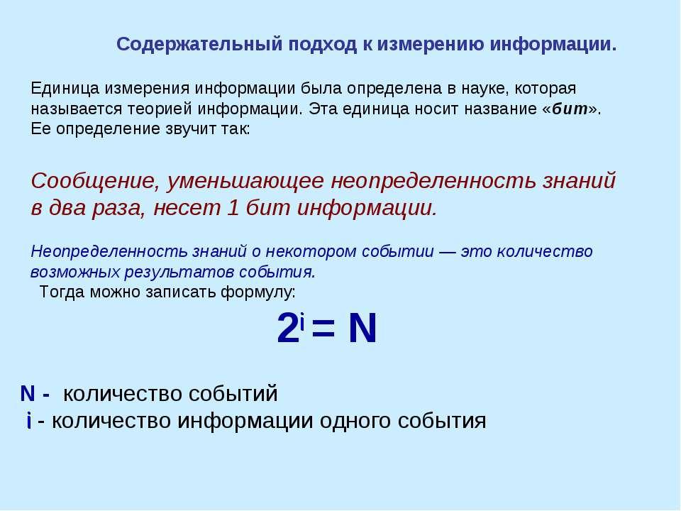 Единица измерения информации была определена в науке, которая называется теор...