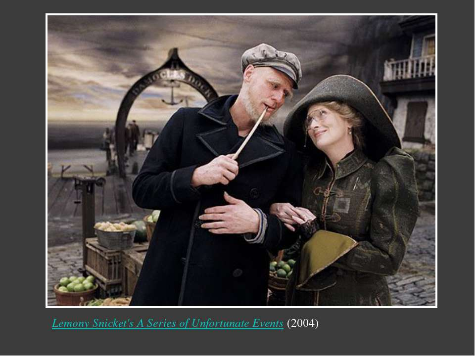 Lemony Snicket's A Series of Unfortunate Events(2004) Надпись