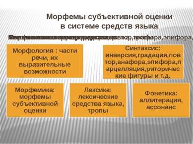 Морфемы субъективной оценки в системе средств языка