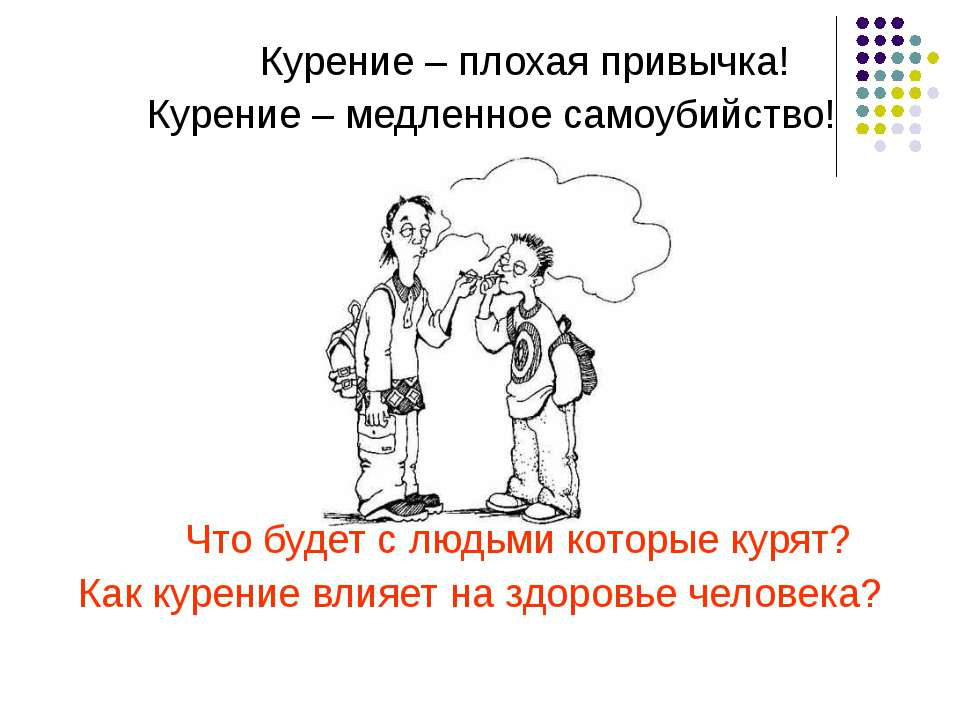 Курение – плохая привычка! Курение – медленное самоубийство! Что будет с людь...