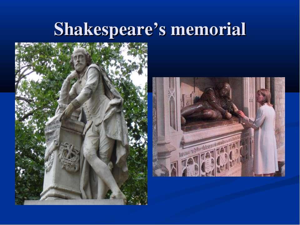 Shakespeare's memorial
