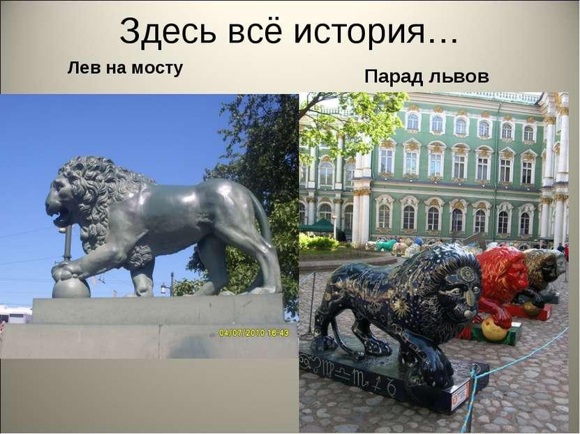 Здесь всё история… Лев на мосту Парад львов