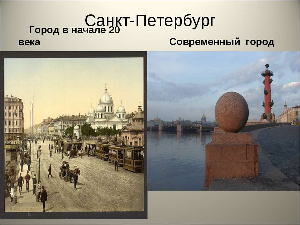 Санкт-Петербург Город в начале 20 века Современный город