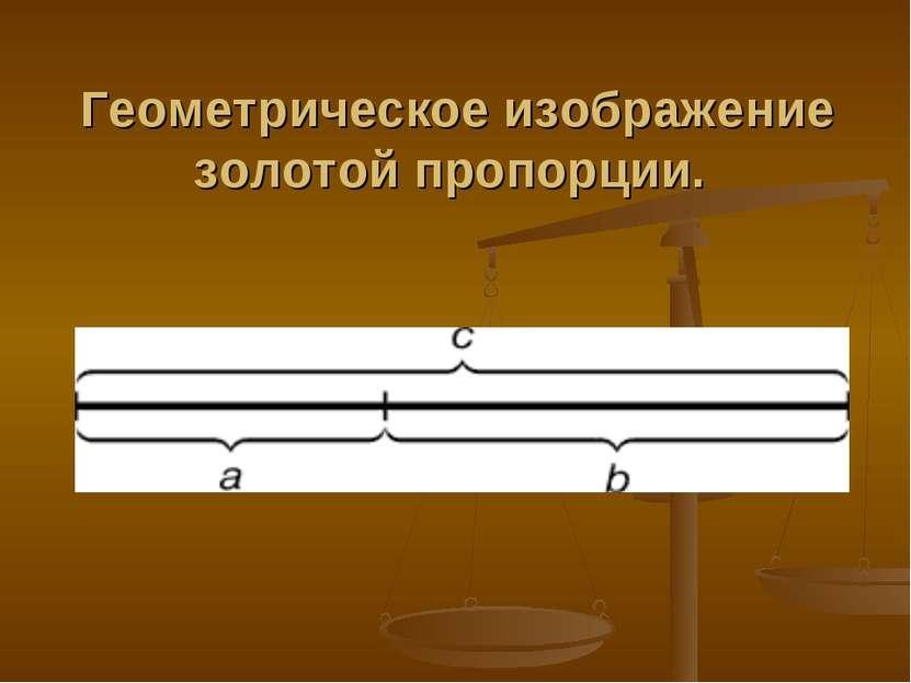 Геометрическое изображение золотой пропорции.