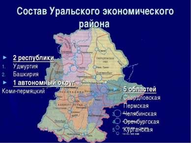 Состав Уральского экономического района 2 республики Удмуртия Башкирия 1 авто...