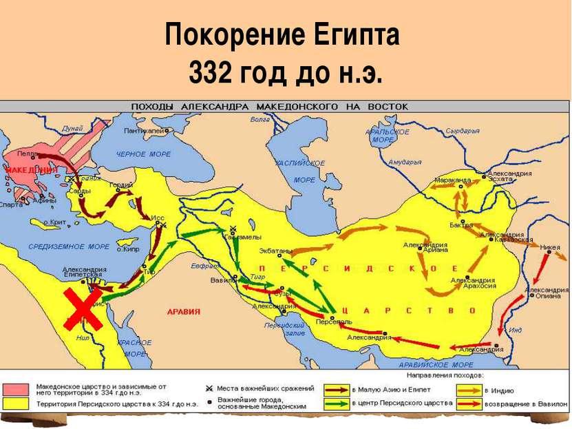 Покорение Египта 332 год до н.э.