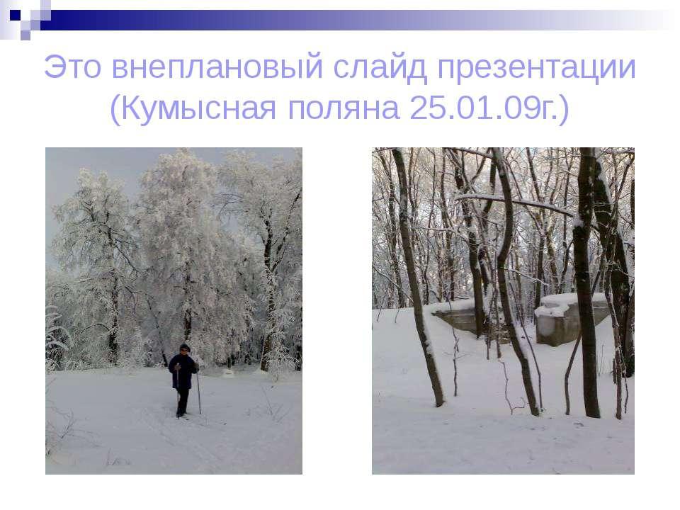 Это внеплановый слайд презентации (Кумысная поляна 25.01.09г.)