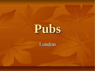 Pubs London