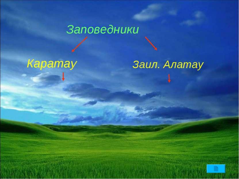 Заповедники Каратау Заил. Алатау