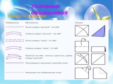 Условные обозначения Линии и стрелки