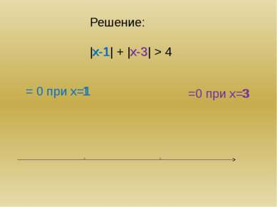 Общий алгоритм найти нули подмодульных выражений и отметить их на числовой пр...