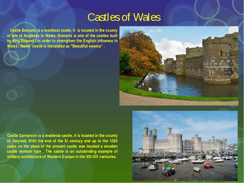 Castles of Wales Castle Bomaris is a medieval castle, it is located in the co...