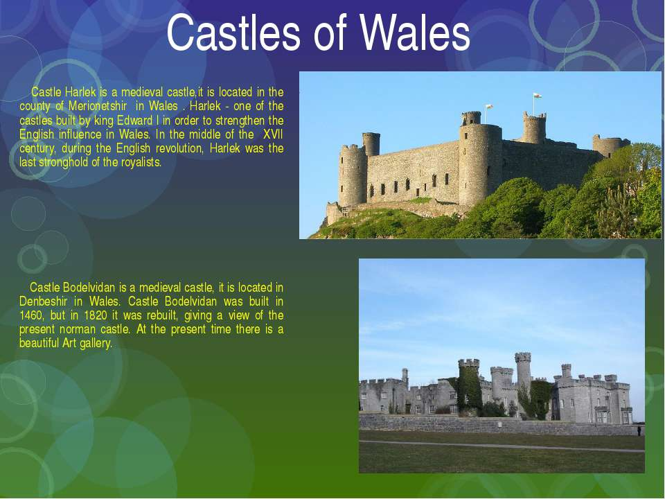 Castles of Wales Castle Harlek is a medieval castle,it is located in the coun...