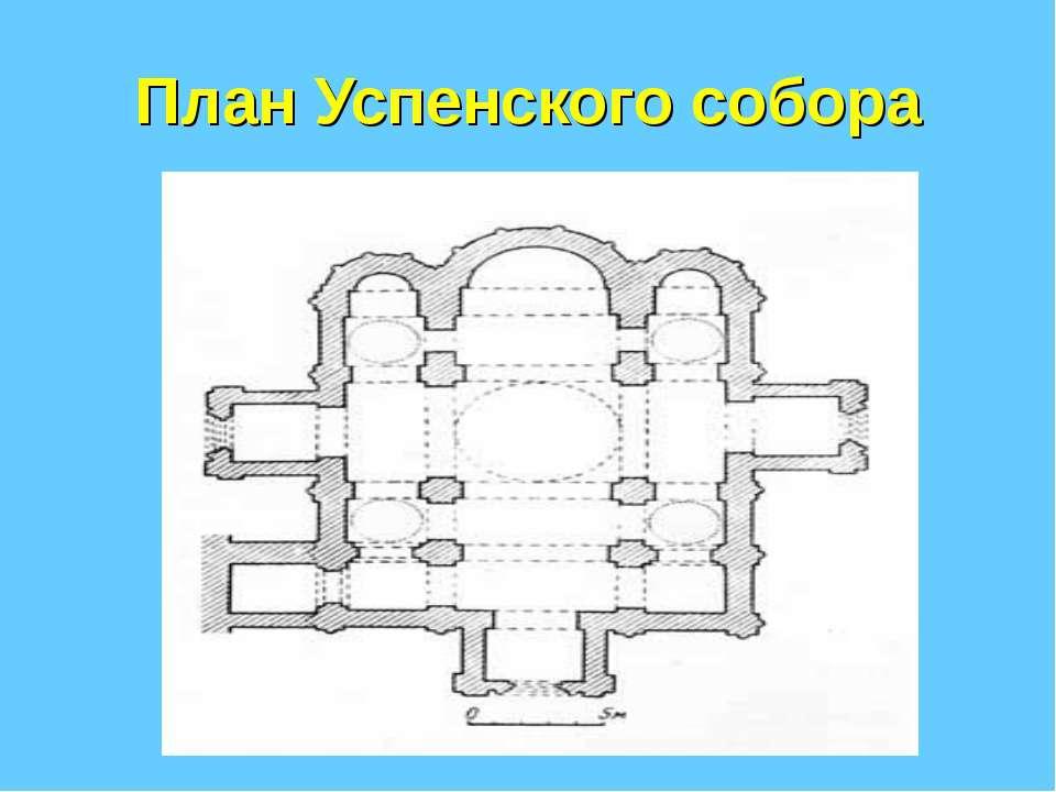 План Успенского собора