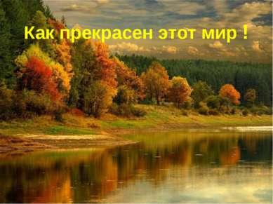 Как прекрасен этот мир !