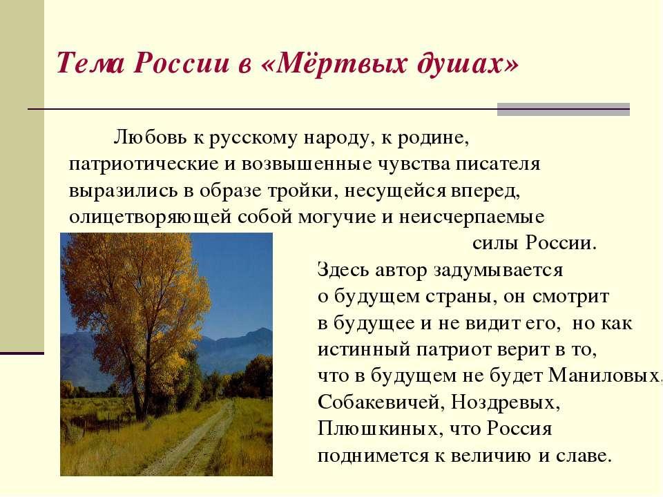 Любовь к русскому народу, к родине, патриотические и возвышенные чувства писа...